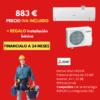 Oferta Mitsubishi Electric MSZ-HR35VF + GRATIS instalación básica
